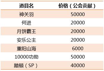 [活动] 10月1日武将将魂兑换与公会商城更新